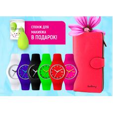 Женские часы Ice и портмоне Baellerry + спонж для макияжа в подарок